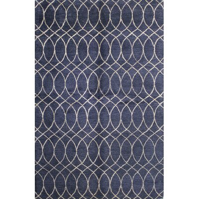 Kheston Hand-Tufted Navy Area Rug Rug Size: 56 x 86