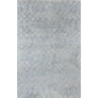 Bandar Hand-Tufted Light Blue Area Rug Rug Size: 86 x 116