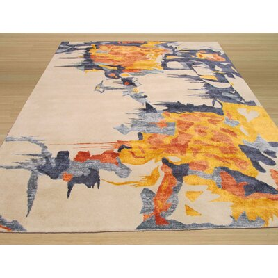 Columbia Hand Tufted Ivory Area Rug Rug Size: 10 x 14
