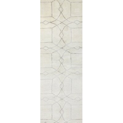 Cochin Hand-Tufted Ivory Area Rug Rug Size: Runner 26 x 8