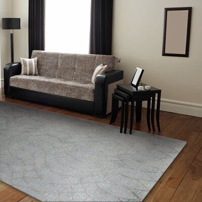 Bandar Hand-Tufted Light Blue Area Rug Rug Size: 56 x 86