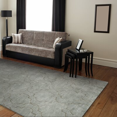 Hillsdale Hand-Tufted Light Blue Area Rug Rug Size: 86 x 116