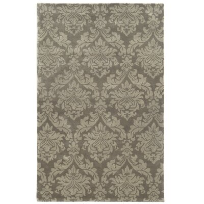 Malo Hand-Tufted Grey Area Rug Rug Size: 5 x 8