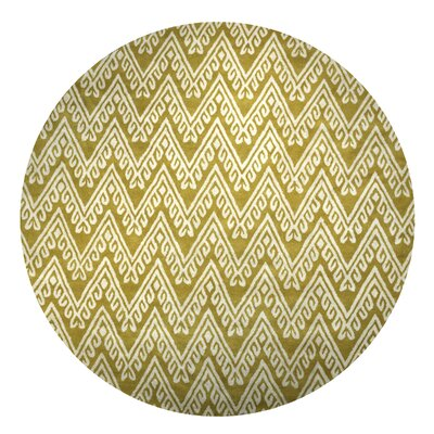 Santo Hand-Tufted Yellow Area Rug Rug Size: Round 8