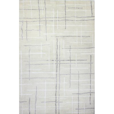 Imam Hand-Tufted Ivory Area Rug Rug Size: 86 x 116