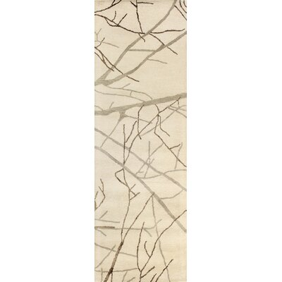 Fullerton Hand-Tufted Ivory Area Rug Rug Size: Runner 26 x 8