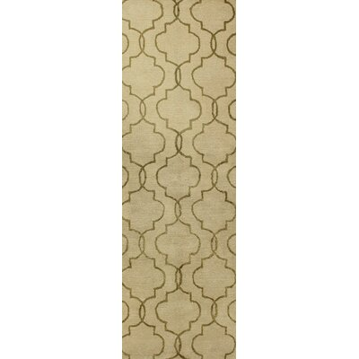 Hildebrandt Hand-Tufted Ivory Area Rug Rug Size: Runner 26 x 8