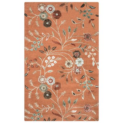 Romania Hand-Tufted Rust Area Rug Rug Size: Rectangle 9 x 12