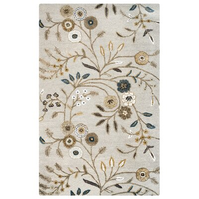 Illichivsk Hand-Tufted Beige Area Rug Rug Size: Rectangle 5 x 8