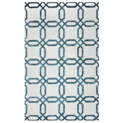 Duinkerken Hand-Tufted Ivory/Blue Area Rug Rug Size: Rectangle 8 x 10