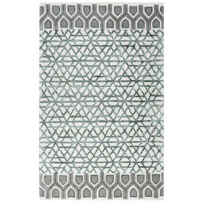 Chetumal Hand-Tufted Ivory/Gray Area Rug Rug Size: Rectangle 8 x 10