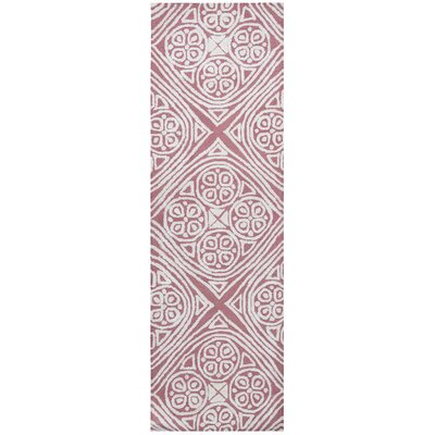 Belfast Hand-Tufted Pink/Ivory Area Rug Rug Size: Runner 26 x 8