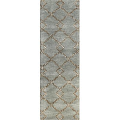 Higby Hand-Tufted Slate Area Rug Rug Size: Runner 26 x 8