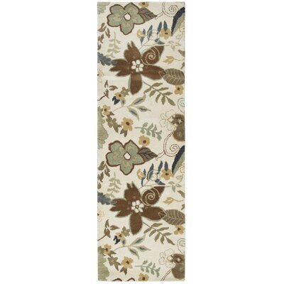 Udaipur Hand-Tufted Ivory Area Rug Rug Size: Rectangle 2 x 3