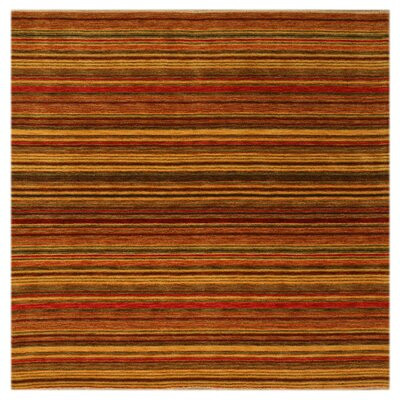 Kovvur Hand-Woven Red Area Rug Rug Size: Square 6