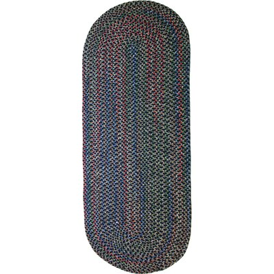 Rehli Blue Indoor/Outdoor Area Rug Rug Size: Oval Runner 2 x 8