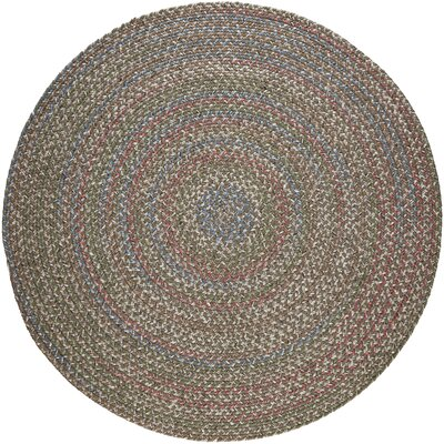 Reengus Brown/Red Indoor/Outdoor Area Rug Rug Size: Round 4