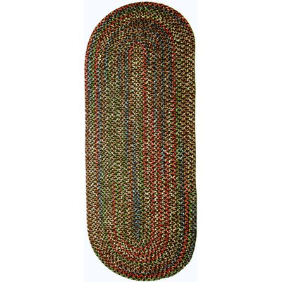 Renukoot Brown Indoor/Outdoor Area Rug Rug Size: Oval Runner 2 x 6