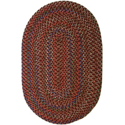 Rayada Red Indoor/Outdoor Area Rug Rug Size: Oval 7 x 9