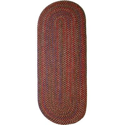 Rayada Red Indoor/Outdoor Area Rug Rug Size: Oval Runner 2 x 6
