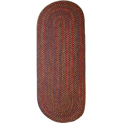 Rayada Red Indoor/Outdoor Area Rug Rug Size: Oval Runner 2 x 8