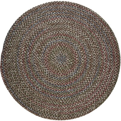 Renukoot Brown Indoor/Outdoor Area Rug Rug Size: Round 8