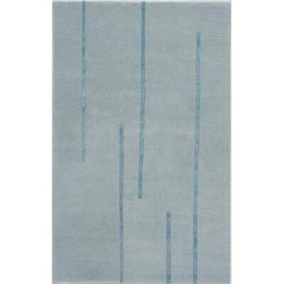 Supaul Hand-Tufted Blue Area Rug Rug Size: 5 x 8