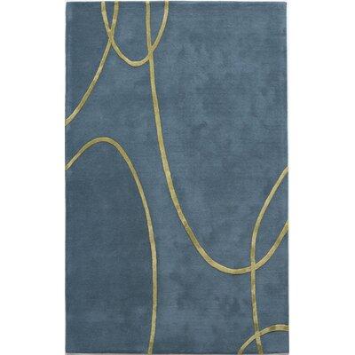 Taki Hand-Tufted Blue Area Rug Rug Size: 16 x 23