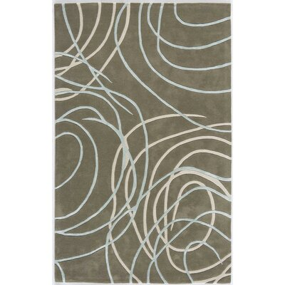 Talcher Hand-Tufted Gray Area Rug Rug Size: 16 x 23