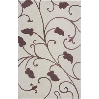 Taliparamba Hand-Tufted White Area Rug Rug Size: 16 x 23