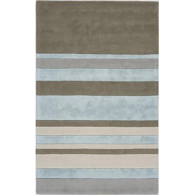 Talwara Hand-Tufted Blue/Gray Area Rug Rug Size: 4 x 6