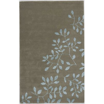 Tamluk Hand-Tufted Gray Area Rug Rug Size: 7 x 9