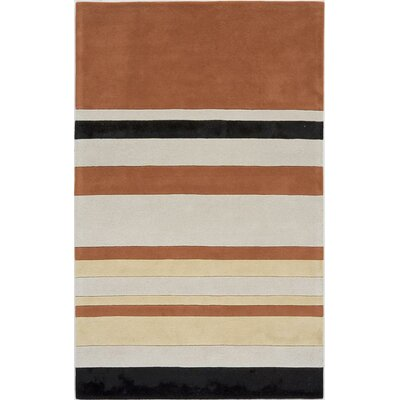 Tehri Hand-Tufted Orange Area Rug Rug Size: 5 x 8