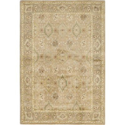 Thiruvalla Hand-Tufted Taupe Area Rug Rug Size: Round 5