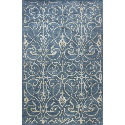 Chelsea Hand-Tufted Azure Area Rug Rug Size: 86 x 116