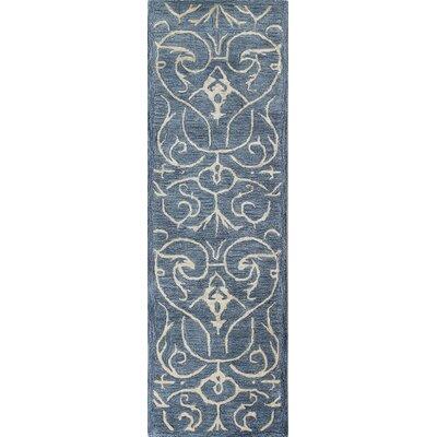 Chelsea Hand-Tufted Azure Area Rug Rug Size: Runner 26 x 8