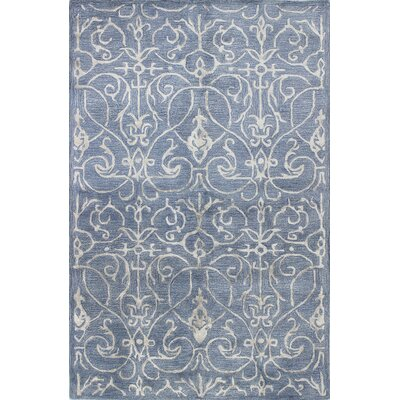 Chelsea Hand-Tufted Denim Area Rug Rug Size: 56 x 86