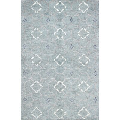 Connor Hand-Tufted Light Blue Area Rug Rug Size: 39 x 59