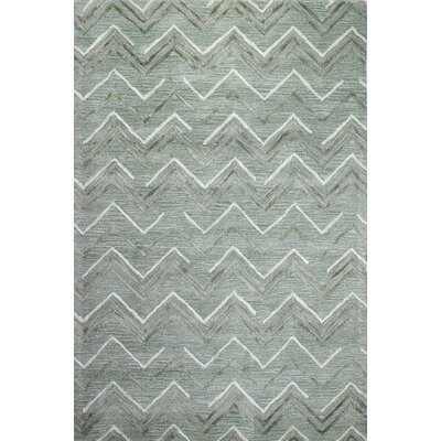 Westport Hand-Tufted Aqua Area Rug Rug Size: 56 x 86