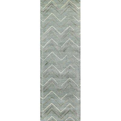 Westport Hand-Tufted Aqua Area Rug Rug Size: Runner 26 x 8