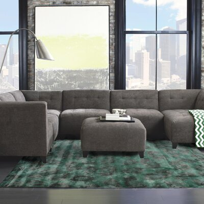 Leith Hand-Tufted Green Area Rug Rug Size: 5 x 8