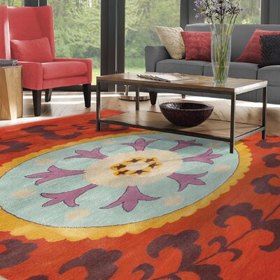Kirkenes Hand-Tufted Red Area Rug Rug Size: 8 x 11