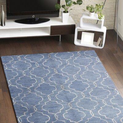 Vajrabahu Hand-Tufted Blue Area Rug Rug Size: 56 x 86