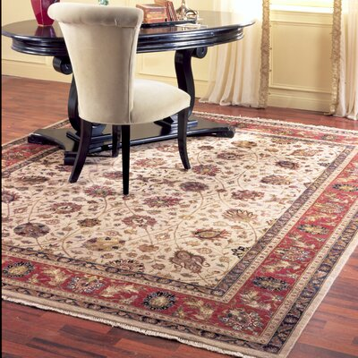 Ahuja Hand-Woven Red/Beige Area Rug Rug Size: Runner 26 x 10