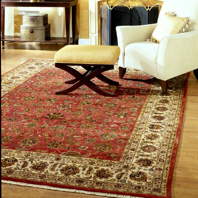 Ahluwalia Hand-Woven Red/Beige Area Rug Rug Size: 6 x 9