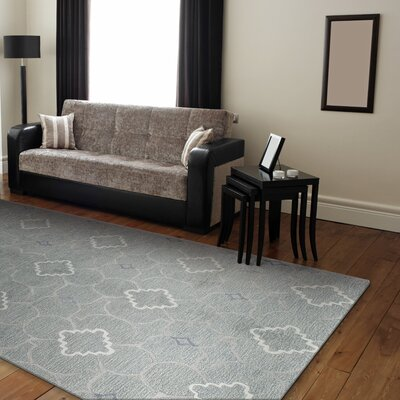 Connor Hand-Tufted Light Blue Area Rug Rug Size: Runner 26 x 8