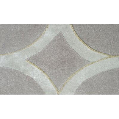 Murmansk Hand-Tufted Gray/Silver Area Rug Rug Size: 5 x 8