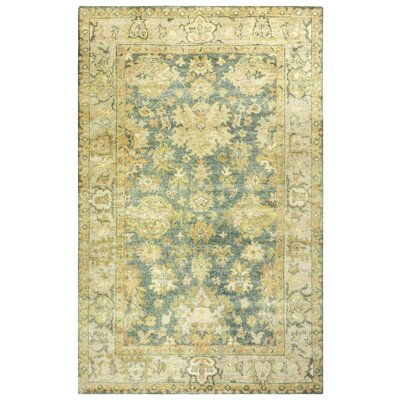 Guadeloupe Hand-Knotted Gray/Beige Area Rug Rug Size: Rectangle 2 x 3