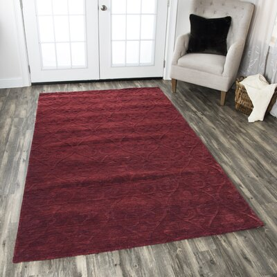 Pasaia Hand-Loomed Red Area Rug Rug Size: 5 x 8
