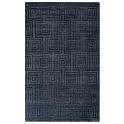 Elizabeth Hand-Loomed Charcoal Area Rug Rug Size: Rectangle 56 x 86